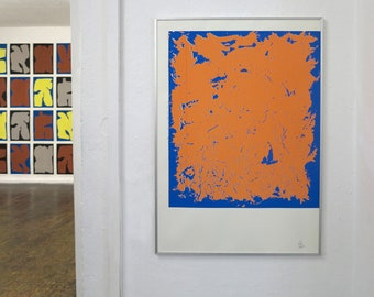 Screen print Stain Square by Hola Mono