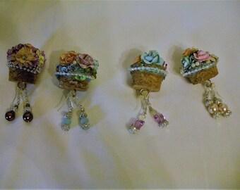 Victorian Inspired Tube Earrings
