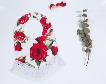 Valentine Baby Bib & Sweetbow Headband Set