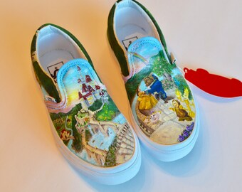 Custom Shoes, Hand Painted Shoes Canvas Shoes-Platinum Level Disney Inspired Custom Vans or Toms