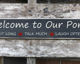 Welcome to Our Porch home decor country signs