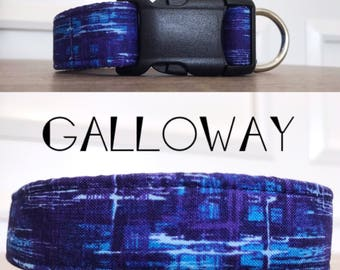 Galloway | Blue and Purple Handmade Collar