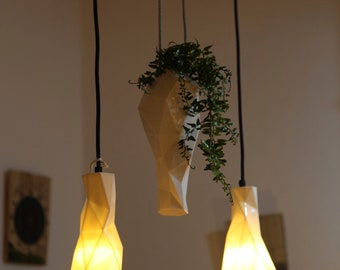Porzellan Kronleuchter Pendelleuchten Mit Pflanzenhalter Polygon Licht  Moderne Beleuchtung Moderne Pendelleuchte Esstisch Küche Licht