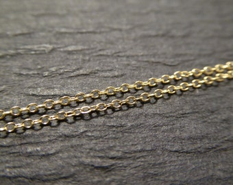 10-100 feet, 14k Gold Filled Flat Cable Chain, 10-18% less, 1.0 mm petite tiny dainty unfinished ssgf sgf9