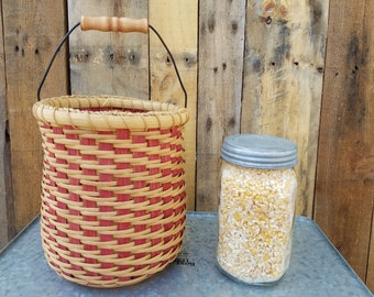 Handwoven Continuous Twill Clothespin Basket