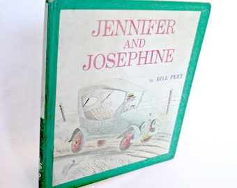 "Vintage Children's Book, ""Jennifer and Josephine"" by Bill Peet, Illustrated by Bill Peet, Houghton Mifflin Company, Mid Century, Pub 1967"