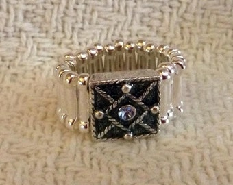 Blue Square Pinky Ring