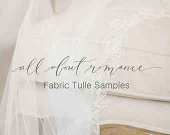 Tulle Samples, Bridal Tulle Fabric Samples, Standard Tulle Veil Samples, Traditional Tulle Sample Card