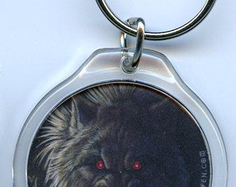 Enraged Werewolf Lycanthrope Keychain