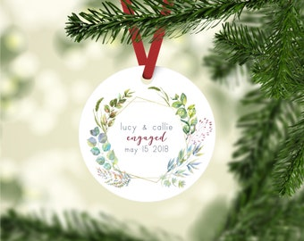 Personalized Engagement Ornament, Personalized Ornament, Personalized Gift, Engagement Ornament, Christmas Ornament, Custom Ornament