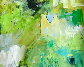 Original Abstract Painting on paper, home decor, modern art