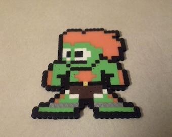 8-Bit Blanka Perler
