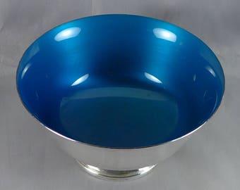 Sterling Silver Enamel Bowl, Vintage Reed And Barton Paul Revere Bowl, Hard To Find, Rare Sterling Enamel Bowl