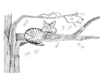 Cheshire Cat  - 11 x 14 in print