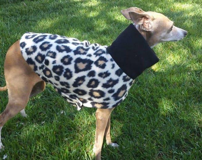 "Italian Greyhound Clothing. ""Cheetah Jammie /Daycoat"" - Italian Greyhound Sizes"