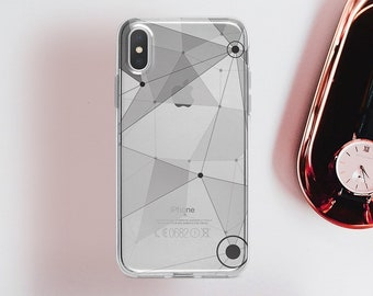 iphone x case Clear Triangles iphone 8 case iphone 8 plus Case 6 iphone 7 plus Case iPhone 10 Case iPhone 7 Case iPhone 6 plus