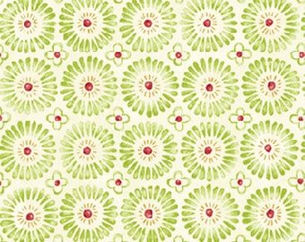 Half Yard Jingle All The Way - Sugar Plums in Ecru - Christmas Cotton Fabric Line Designed by Nancy Halvorsen for Benartex (w1002)