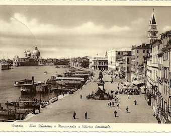 Vintage 1937 Photo Postcard of Venice Italy