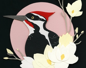 Giclee Print: Pileated Woodpecker