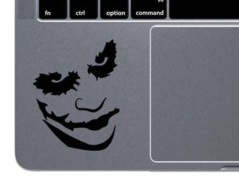 Joker MacBook Decal Batman MacBook Sticker Joker Laptop Decal Joker Laptop Sticker MacBook Air Decal MacBook Pro Decal Vinyl Sticker m1222