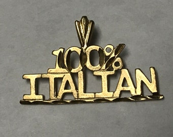 "VINTAGE 1980's 14K Yellow Gold ""100% ITALIAN"" CHARM"