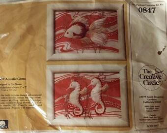 The Creative Circle Aquatic Gems Kit ~Sea Horse & Fish~
