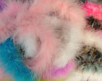 Boa Feathers, Boa Feather Destash, Multi Color Boa, Boa Destash, Multi Color Feathers, Marabou, Marabou Feathers