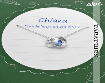 Name Chain with gift Box school start 925 silver chain for training with gift wrapping