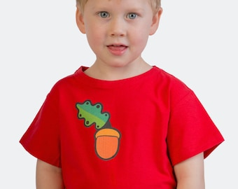 Earth day sale - Ethically made - Kids acorn organic t-shirt - Vegan safe inks - Eco friendly - Environmentally friendly - Fair trade certif