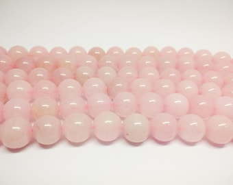 Rose Quartz Beads Pink Quartz Beads Pink Beads  Natural Rose Quartz Rose Beads for Jewelry Making Beads Mala Beads Craft Supplies Beading