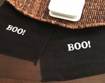 Halloween Table Runner | Black Table Runner | Boo Table Runner | Solid Black