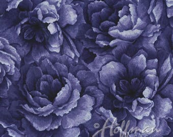 Hoffman - Belleflower - Large Packed Floral - Plum - Fabric by the Yard P7576-46