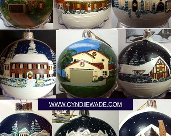 Custom House Ornament Hand Painted
