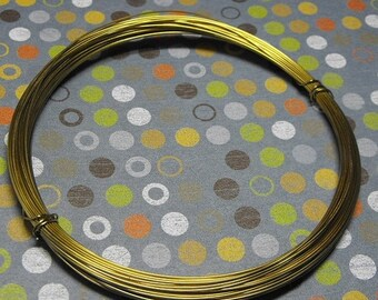 Mothers Day Sale Aluminium Gold Tone 22 Gauge Round Wire 50 Feet