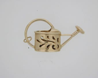Watering Can Charm 9ct Yellow Gold 7.4g vintage 1963