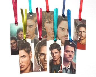 Supernatural mini bookmarks (Dean, Sam, & Castiel)