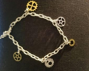 Watch Gear Charm Bracelet