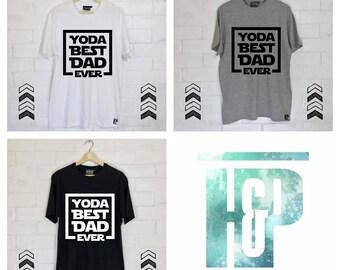 Yoda Best Dad Ever Star Wars inspired Tee, tshirt, shirt