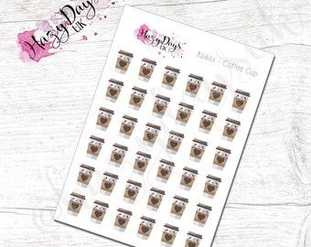 Kawaii Coffee Planner Stickers - Cute Kawaii Planner Stickers ECLP, Happy Planner, TN, Personal Planner etc