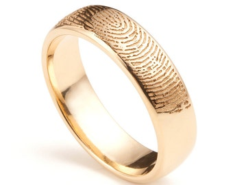 18ct Rose Gold Fingerprint Wedding Ring