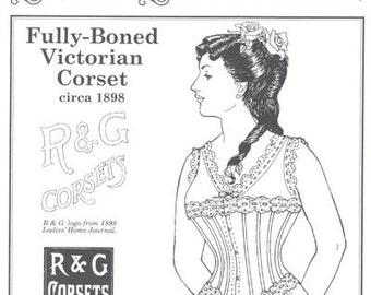 PP213 - Past Patterns #213, 1898 Fully Boned Victorian Corset Sewing Pattern