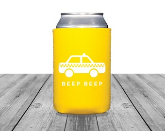 Neoprene Can Coolers, Personalized Coolies, Wedding Coolies, Bachelorette Party, Going Away Party Coasters, Taxi Can Coolers, Birthday, 1385