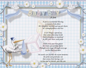 Personalized Poem A Son Poem