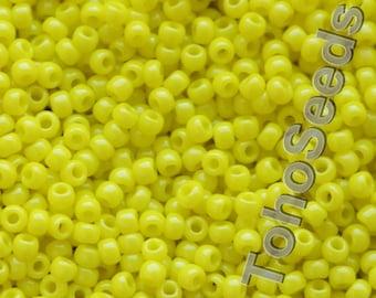 10g Toho Seeds Beads 11/0 Opaque Dandelion Yellow TR-11-42 size 11 Toho Lemon Yellow
