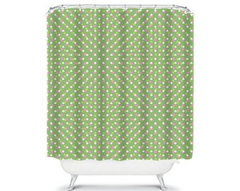 green shower curtain green bathroom decor polka dot shower curtains bath curtain fabric shower curtain with spots extra long shower spotted