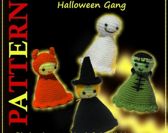 ENGLISH Instructions - Instant Download PDF Crochet Pattern Halloween Gang