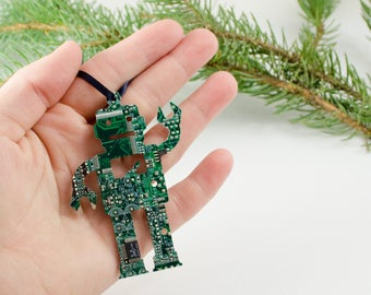 Circuit Board Ornament Robot, Computer Programmer, Software Engineer, Computer Science Gift, Christmas Ornament, Techie Stocking Stuffer