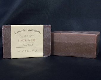Black Tan Beer Soap, Beer Soap, Guinness soap, Handmade soap, Irish soap, 5oz, Layered Soap, Handcrafted soap