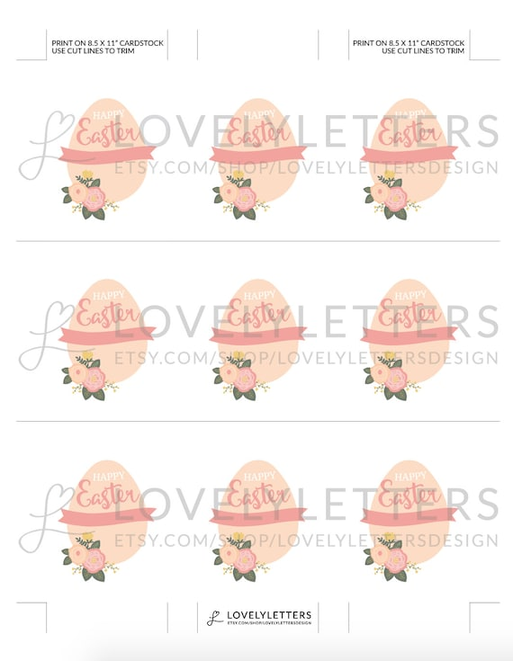 Easter gift tags happy easter tags digital tags floral easter gift tags happy easter tags digital tags floral easter favor tags easter favors easter treat tags floral gift tags negle Choice Image