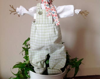 The scarecrow from Tilda gingham Green